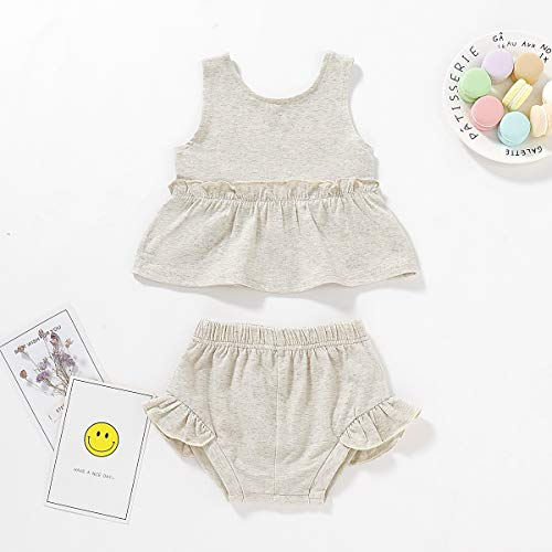 Newborn Toddler Kids Baby Girls Summer Outfits Holiday Stripe Mini Dress Tops Shorts 2Pcs Clothes Sunsuit Set 0-24M